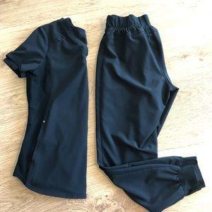Black jogger scrubs